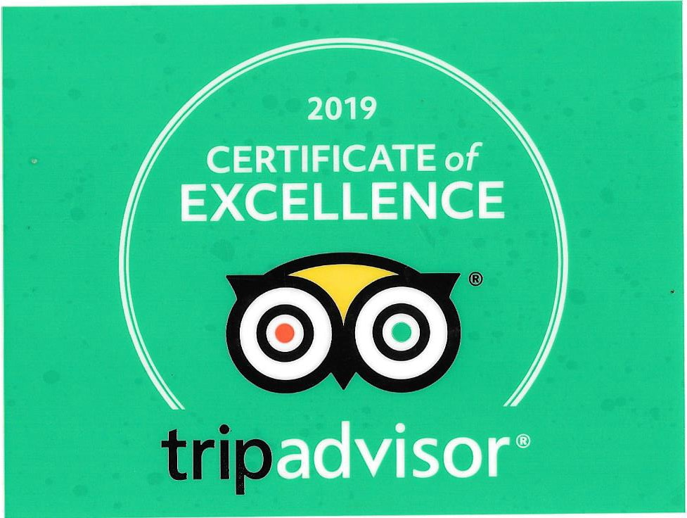 Trip Adviser Certificate of Excellencel